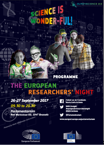 """European Commission has selected Euro4science 2.0 for the """"Science is Wonder-ful!"""" event."""
